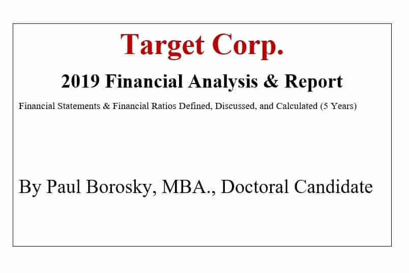 Target Corp. Financial Report by Paul Borosky, MBA.