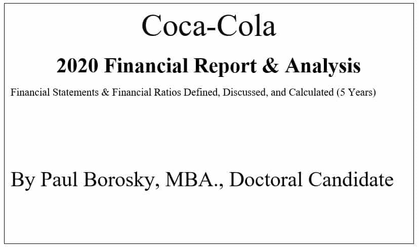 Coca-Cola Financial Report by Paul Borosky, MBA.