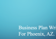 Business Plan Writer for Phoenix, AZ.